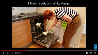 Video - cleaning a dishwasher